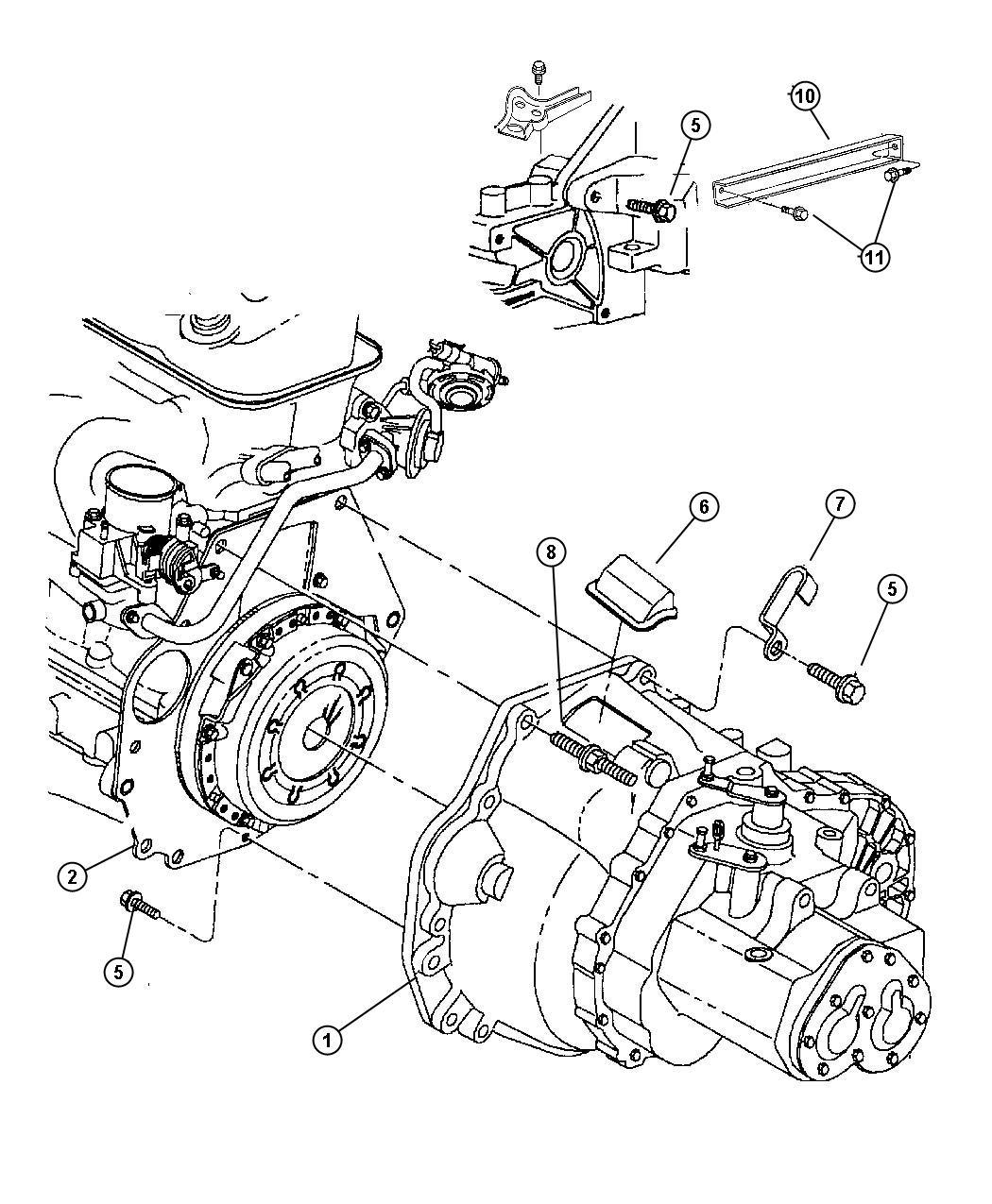 Chrysler PT Cruiser Transaxle. Mounting, overall, gear