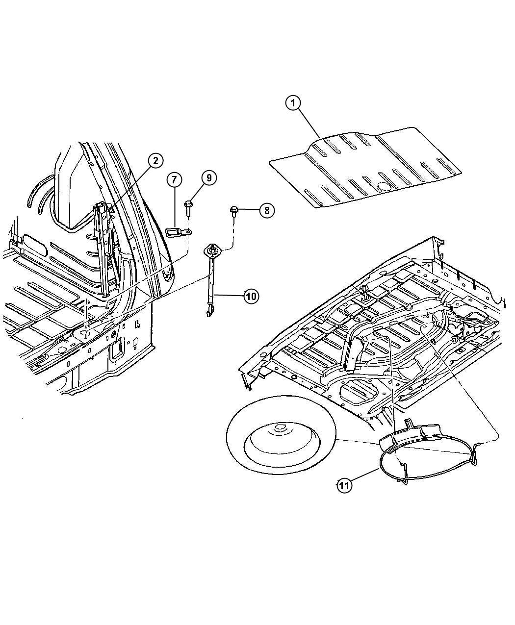 Dodge Grand Caravan Hook Spare Tire Attach
