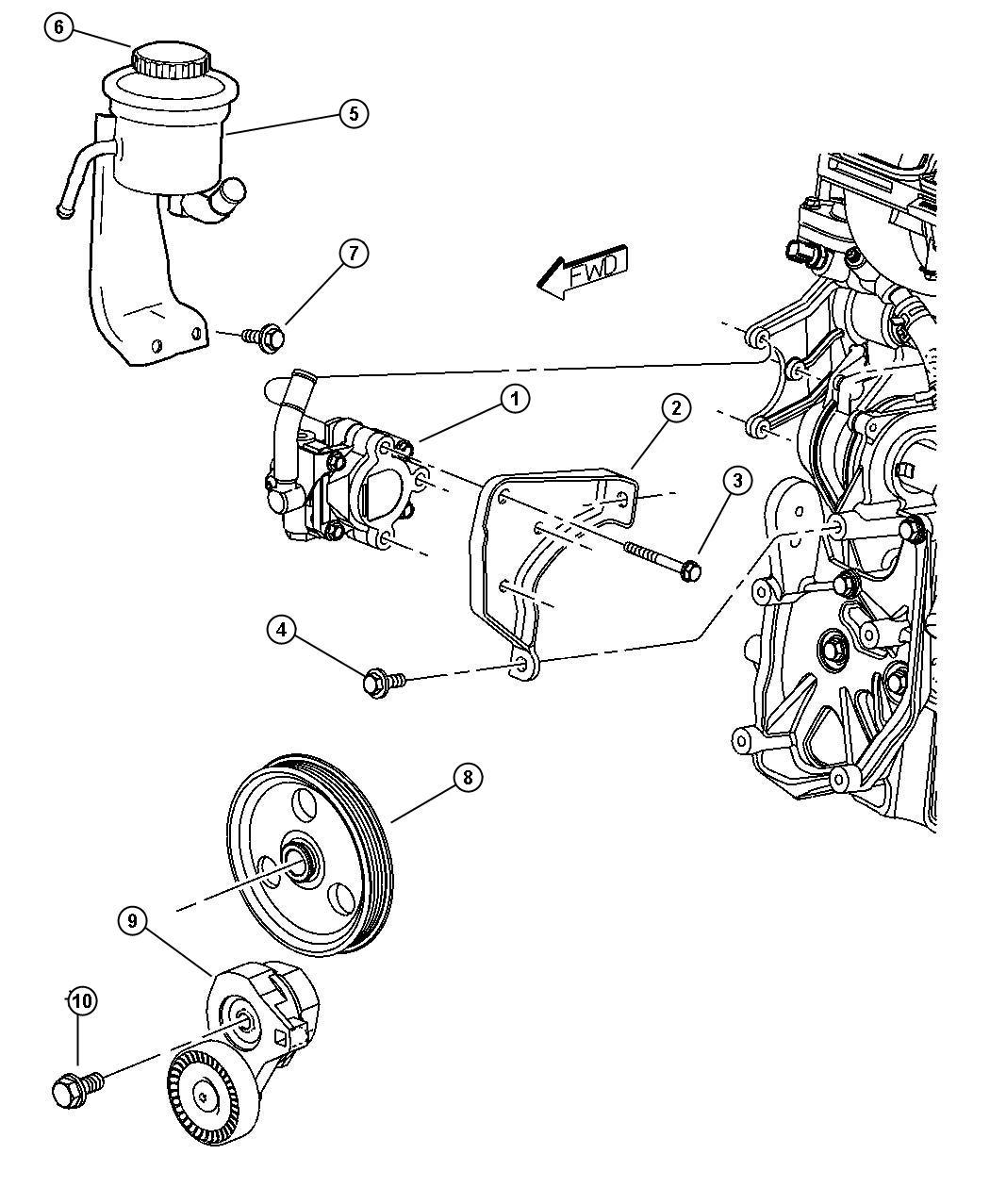 Jeep Wrangler Reservoir Power Steering Fluid With