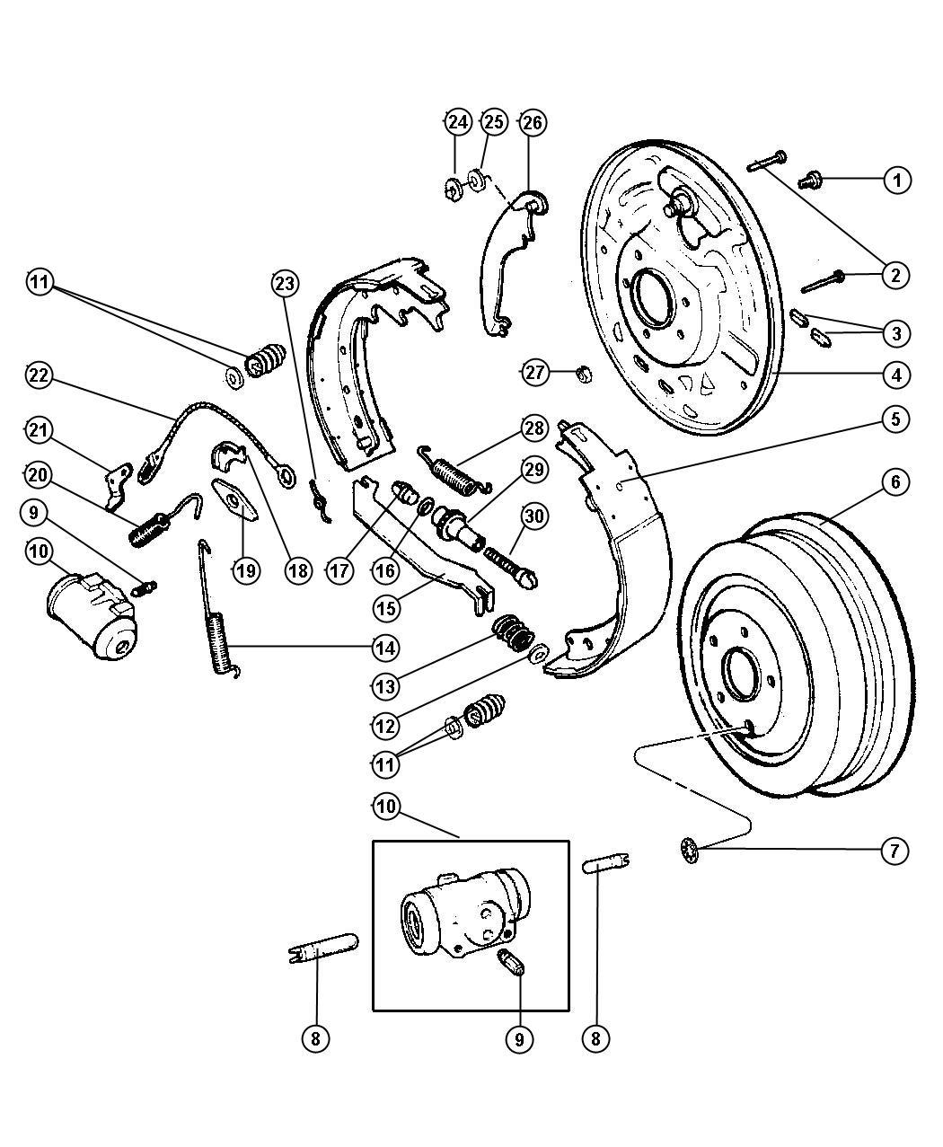2007 Chrysler PT Cruiser Drum. Brake. Axle, rear, ratio