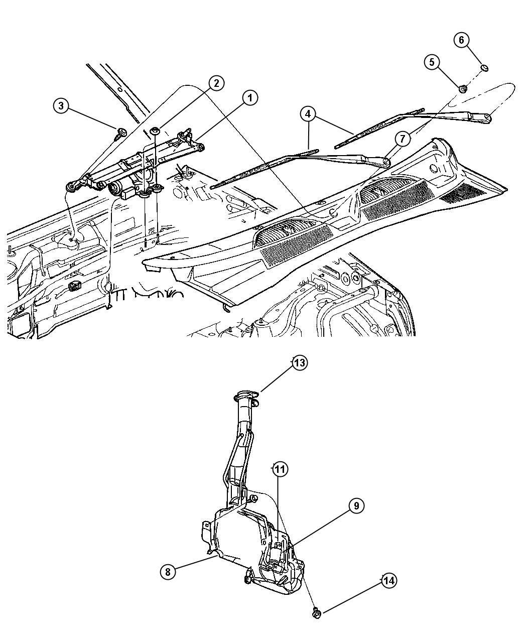 Jeep Liberty Engine Diagram Windshield Sprayer Auto Electrical 2005 Module Wiper Washer Door