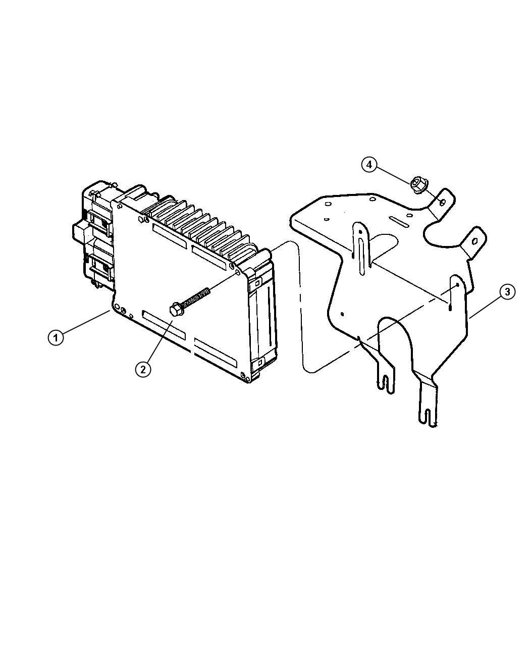 Dodge Intrepid Module Engine Controller California