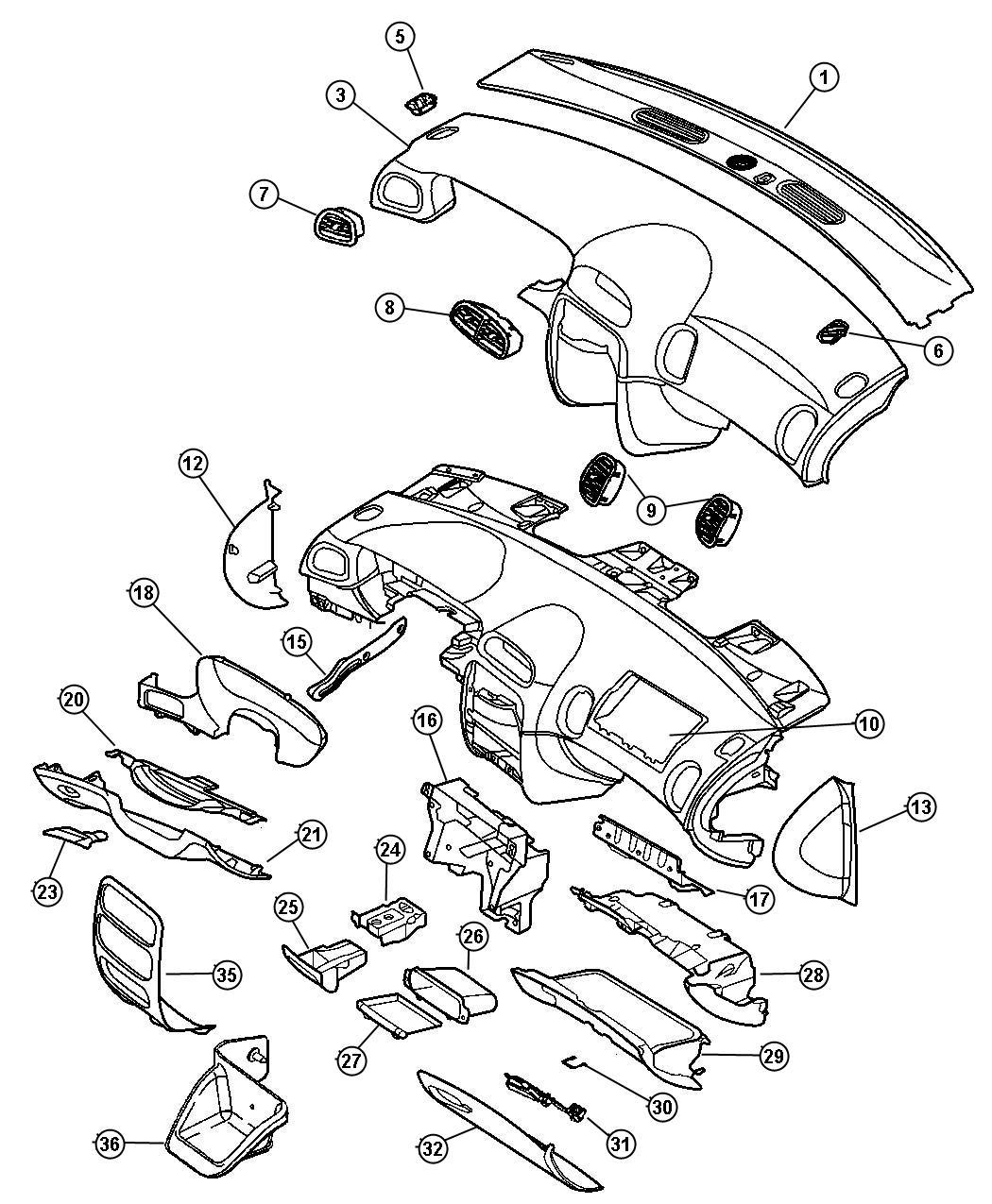 1999 Chrysler LHS Latch. Glovebox door. Med. Quartz, med