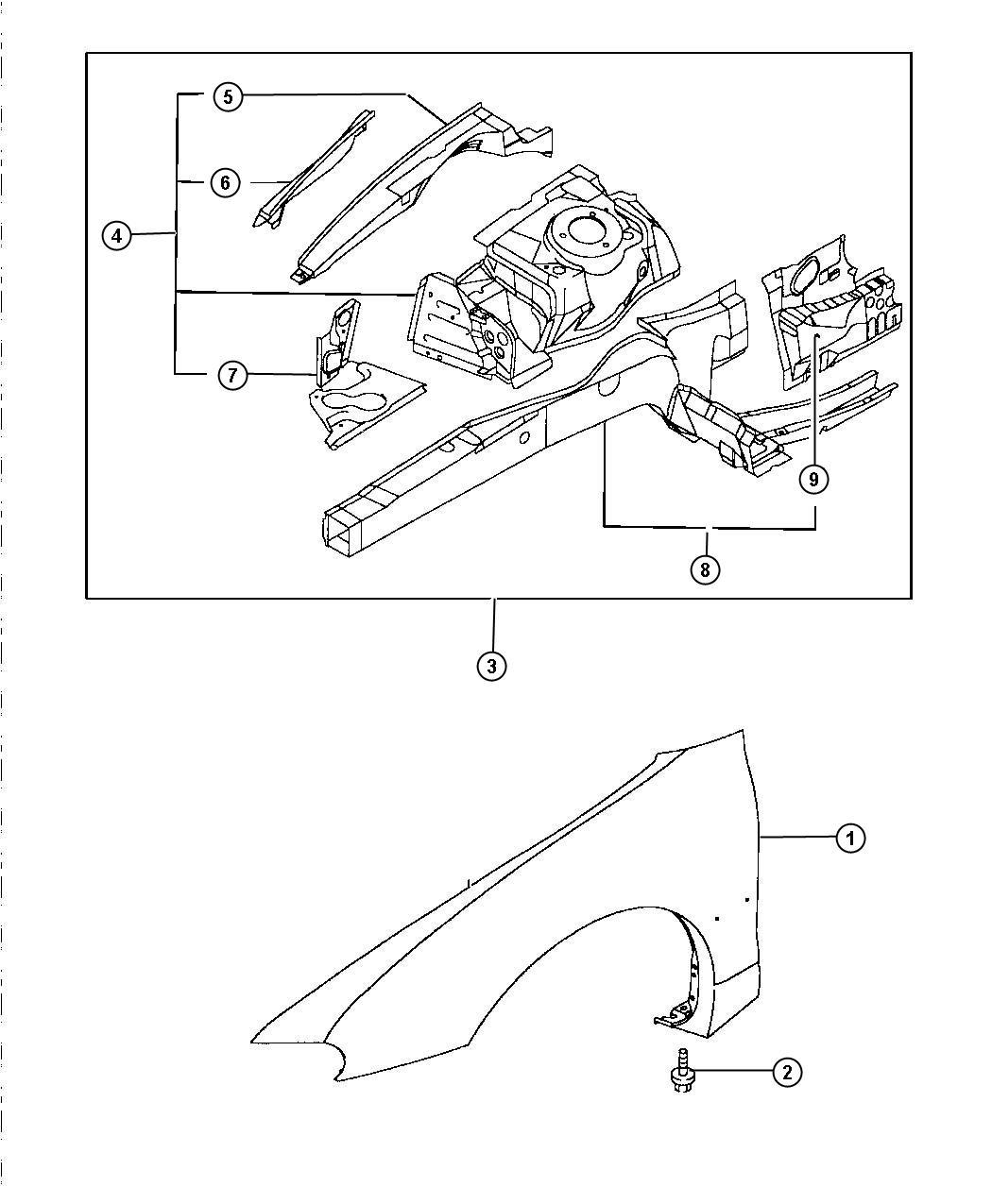 Chrysler Sebring Wiring Harnes