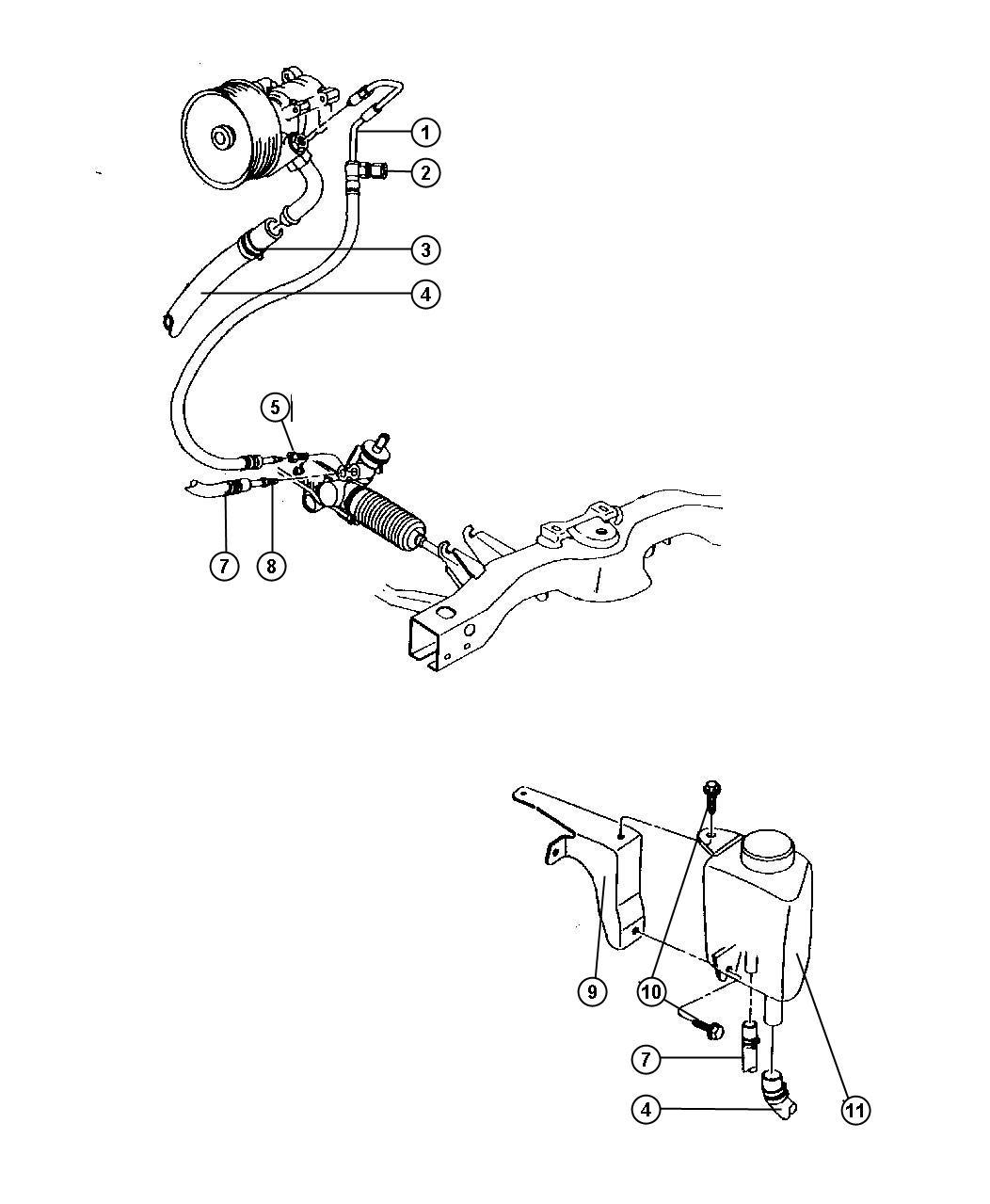 Dodge Dakota Fitting Power Steering Quick Connect
