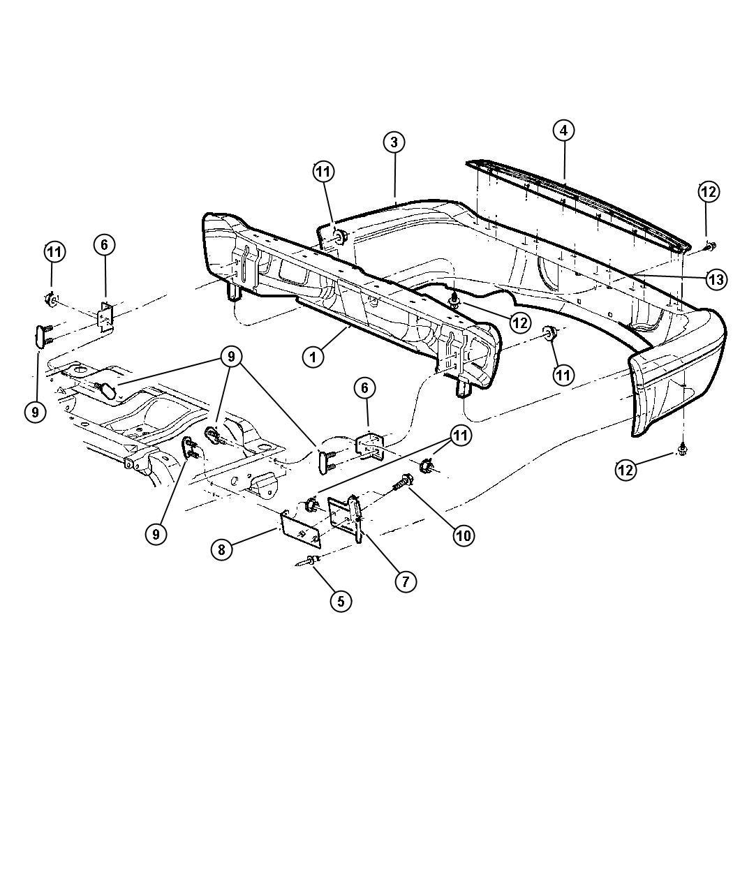 hight resolution of  dodge durango accessories 2001 dodge durango step pad rear bumper