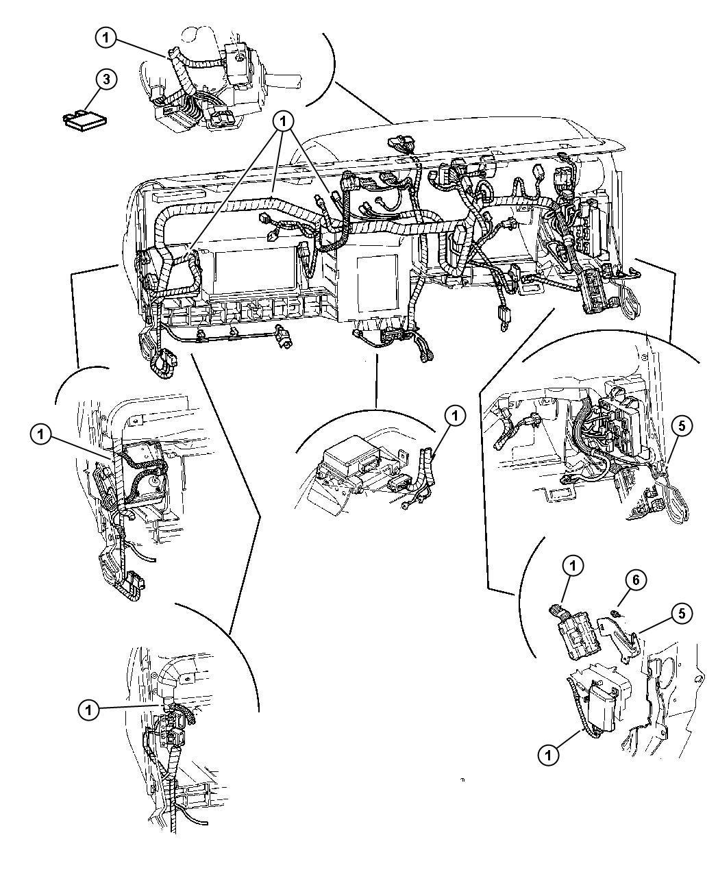 2009 Dodge Journey Flasher. Instrument, wiring, panel