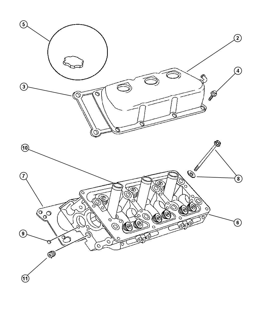 2007 Chrysler Sebring Seal. Spark plug tube. Egn