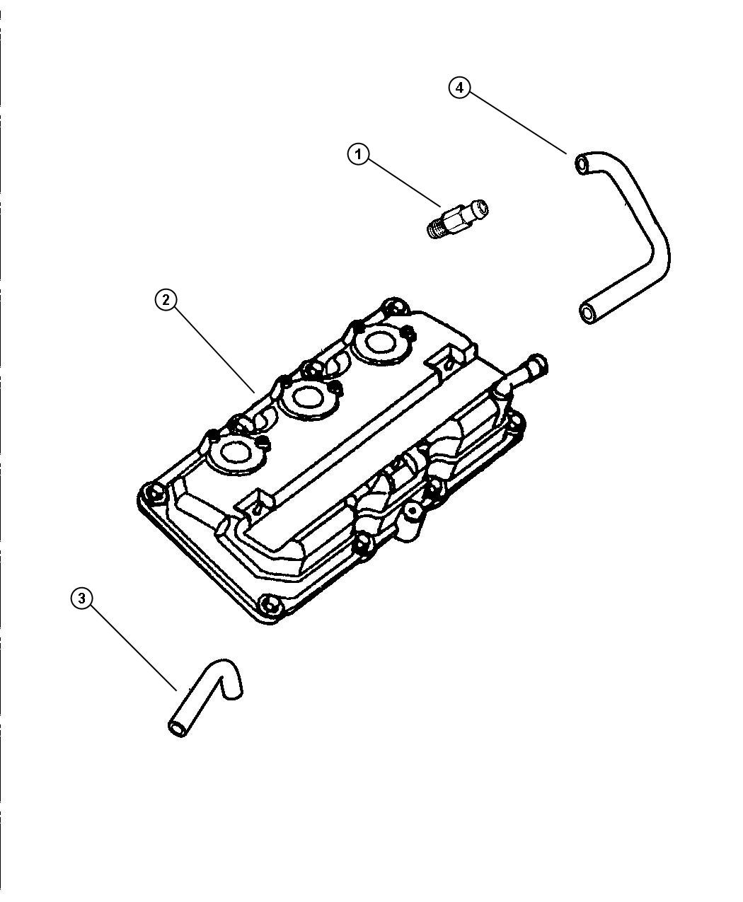 2000 Chrysler Concorde Cover. Cylinder head. Left, right