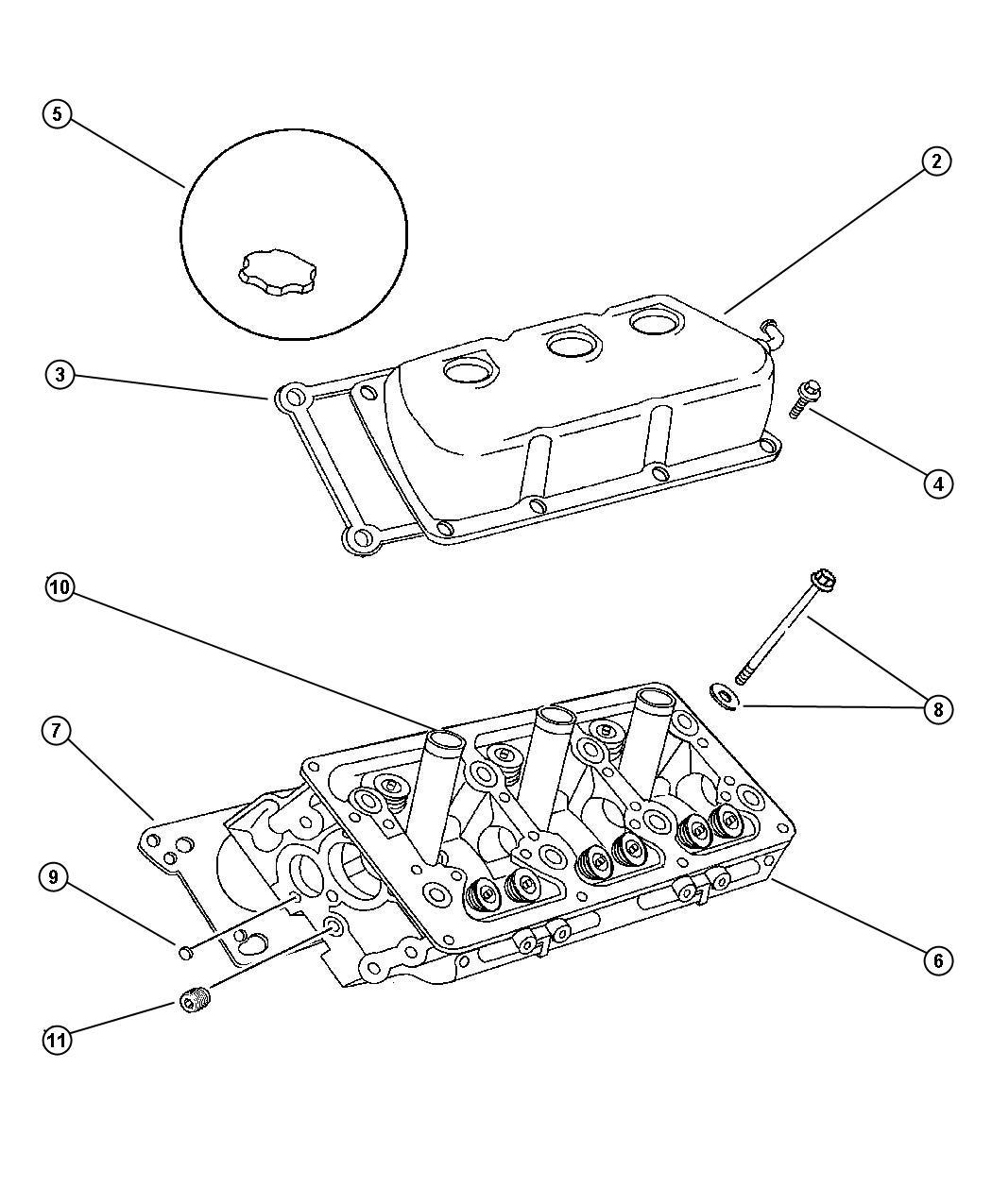 1999 Dodge Intrepid Plug. Hex socket. 3/8-18npt. Cylinder