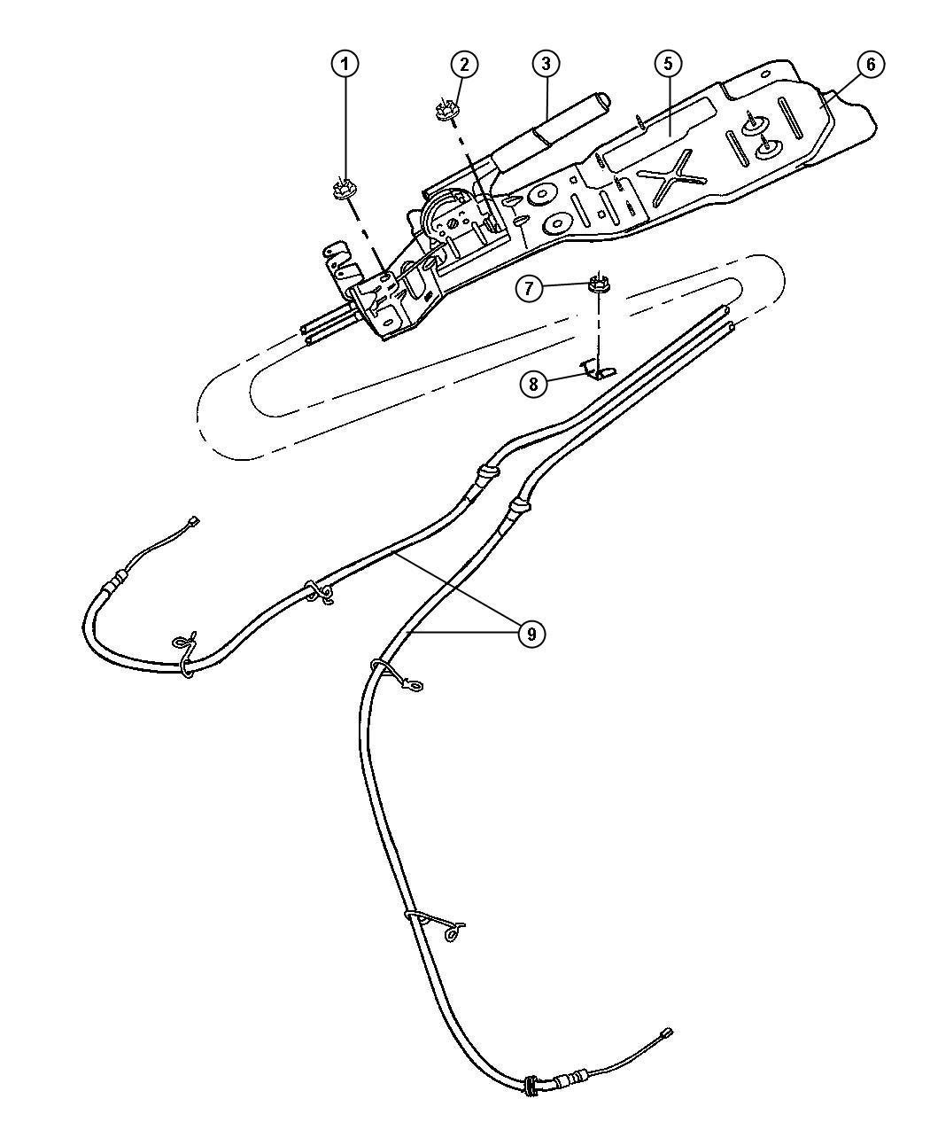 2008 Chrysler Sebring Bracket. Parking brake. [all 5-speed