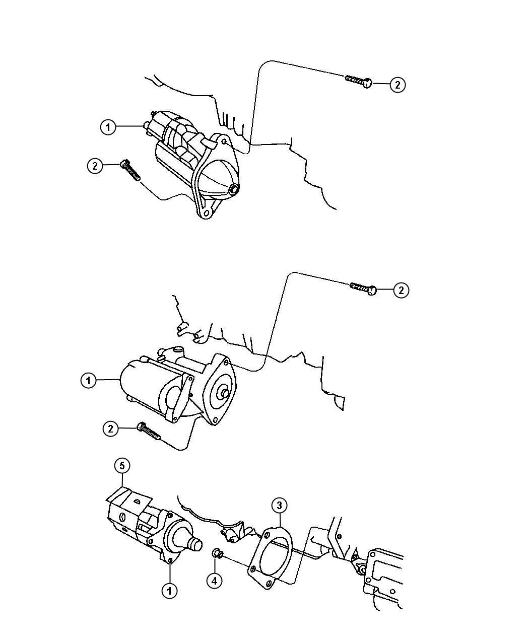 Chrysler Sebring Starter. Engine. Maintenance, ecc