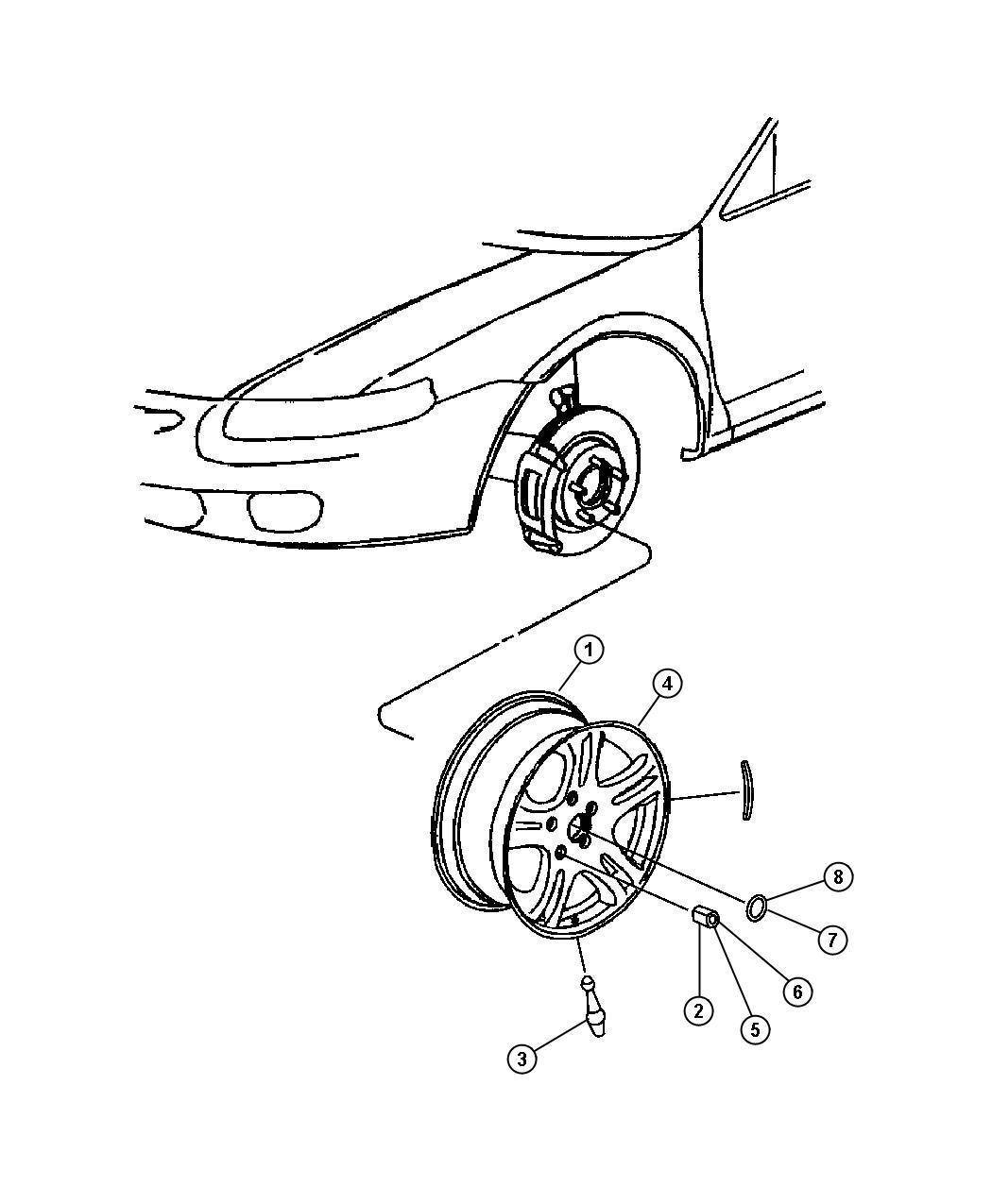 Dodge Stratus Wheel Aluminum Wheels