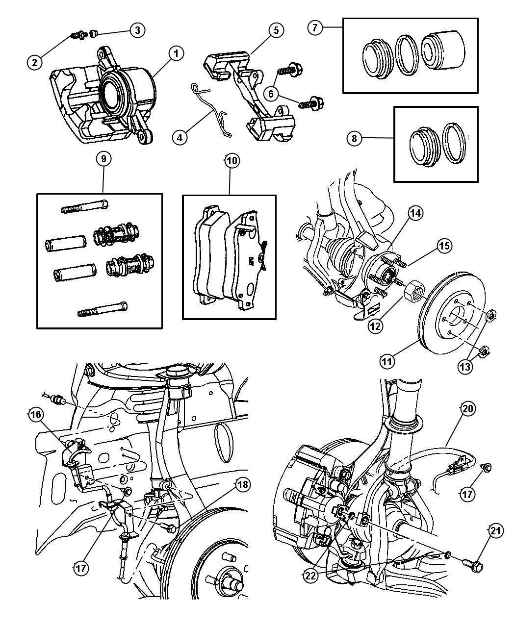 Dodge Durango Rotor. Brake. Brakes, front, mopar