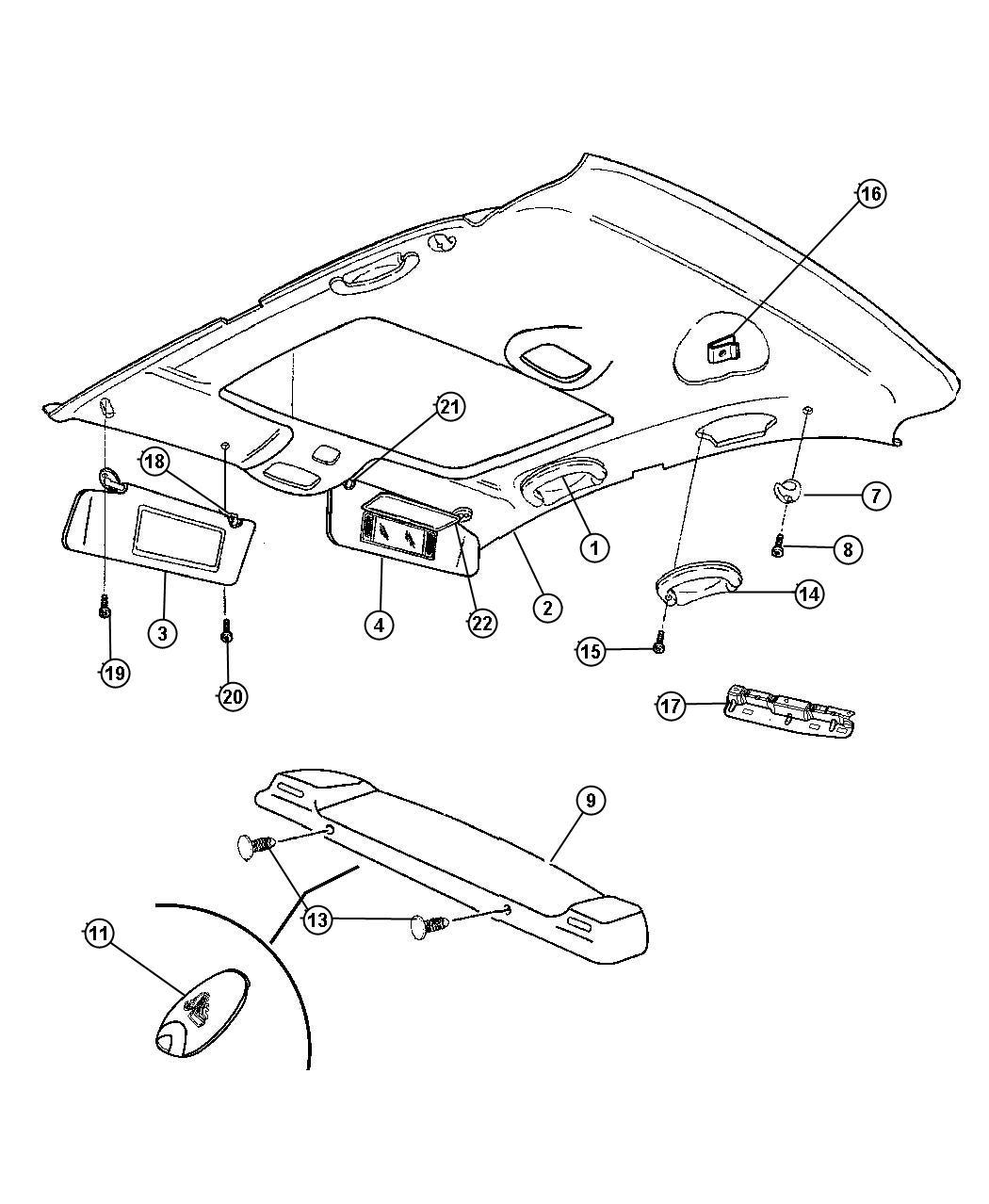 2012 Dodge Charger Panel. Shelf. [l2], [l5]. Trim: [all