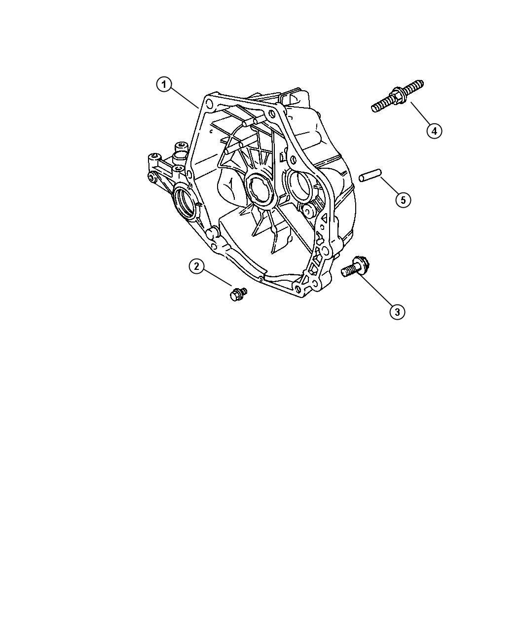 Chrysler Sebring Dowel, dowel pin. Block to clutch housing