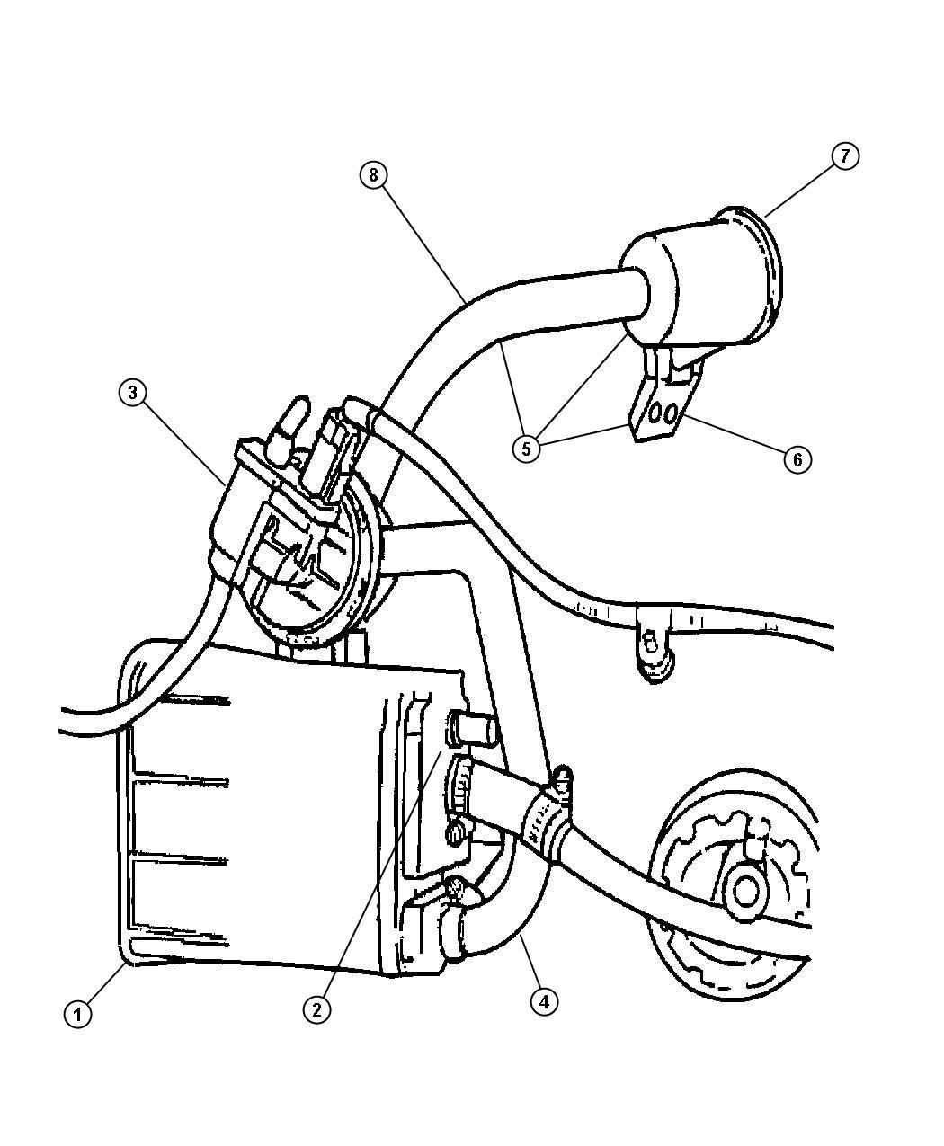 2007 Dodge NITRO Pump. Leak detection. Emissions, canister