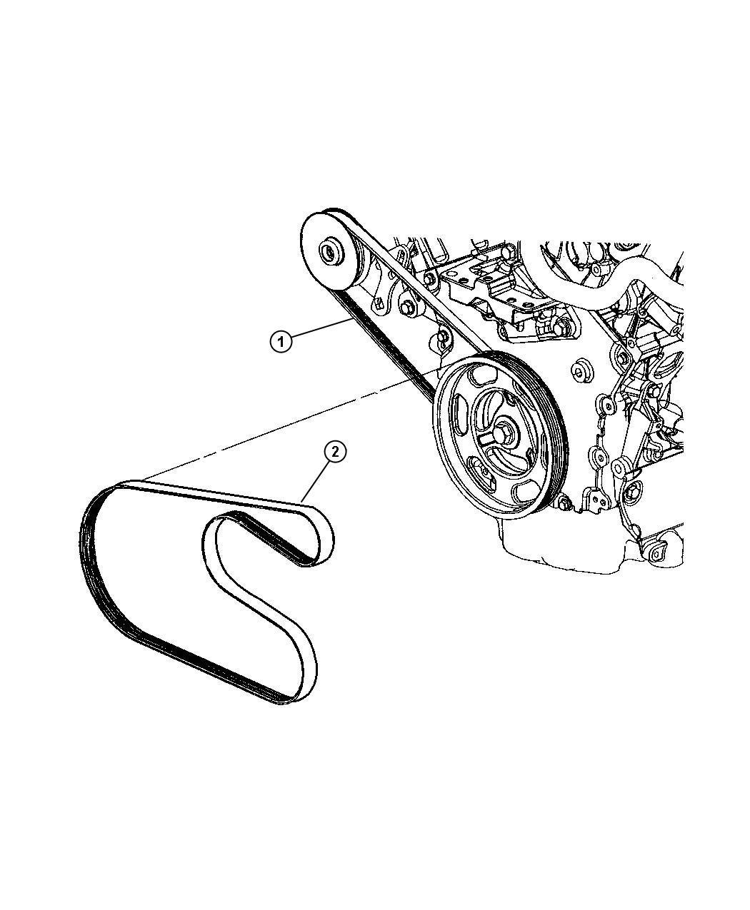 2002 Chrysler Sebring Belt. Power steering. Rack, feel