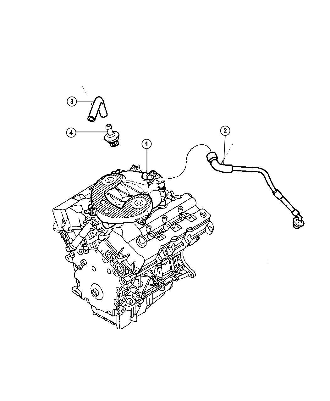 Chrysler Sebring Hose. Make up air. Ventilation, crankcase