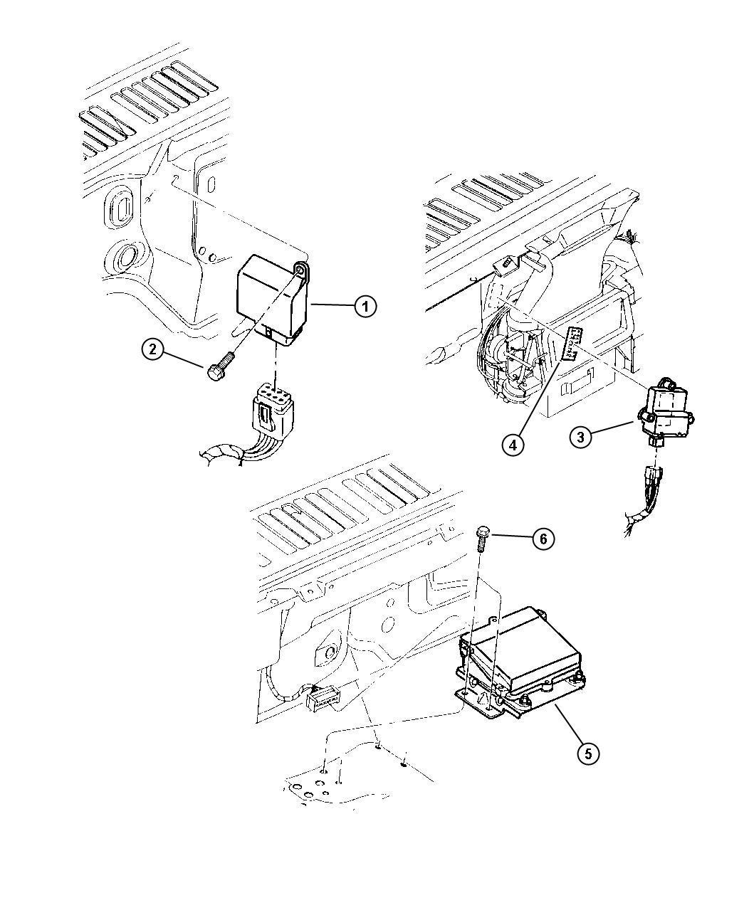 1999 Jeep Wrangler Module. Security alarm. Key, sentry