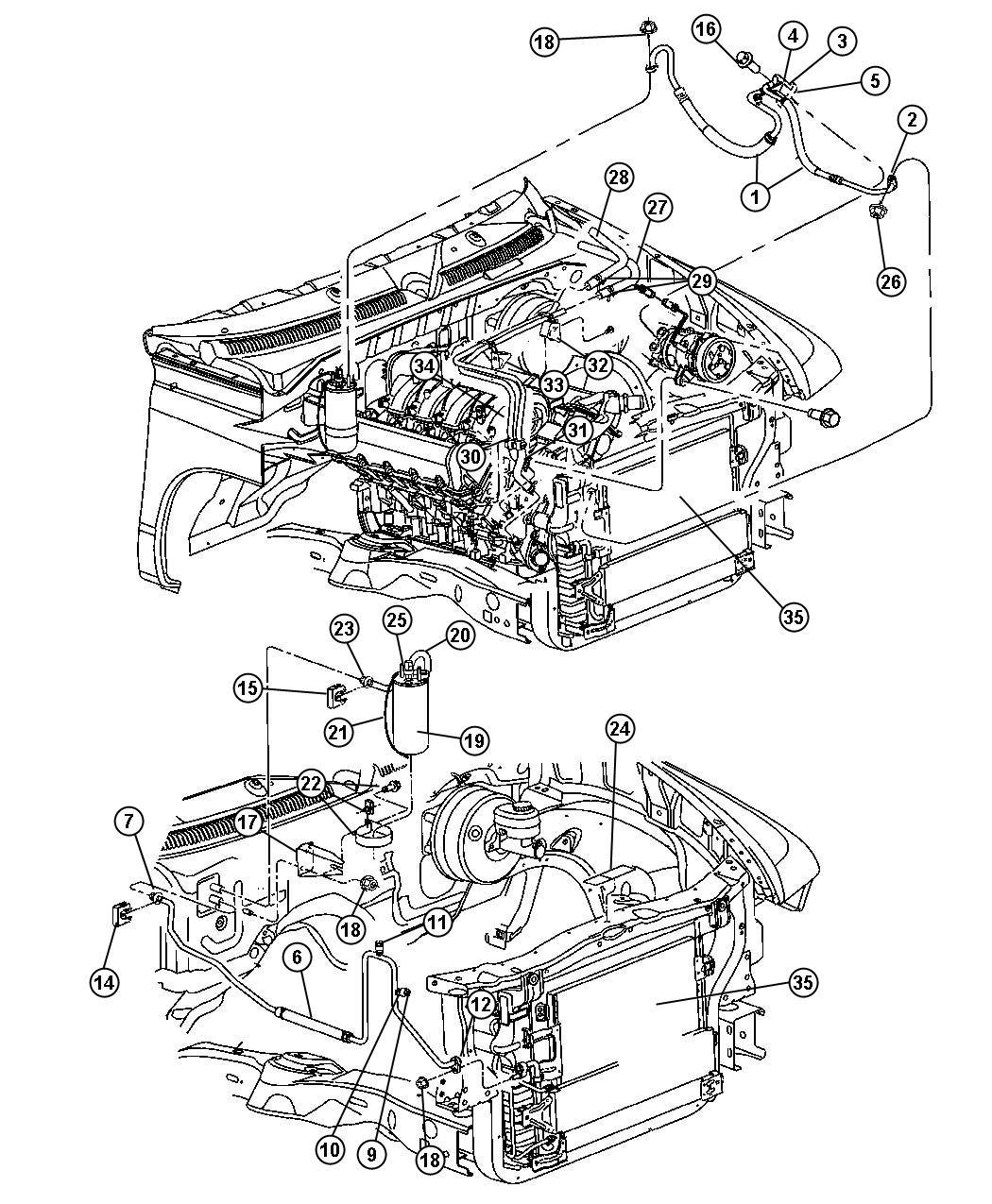 Dodge Dakota Line A C Suction Amp Discharge Air