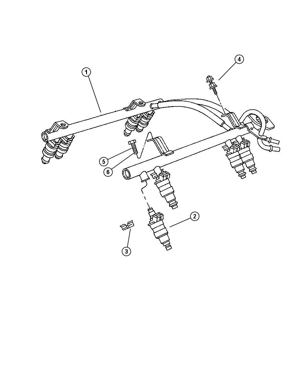 Dodge Dakota Injector Fuel Up To 7 07 03 Engine Rail