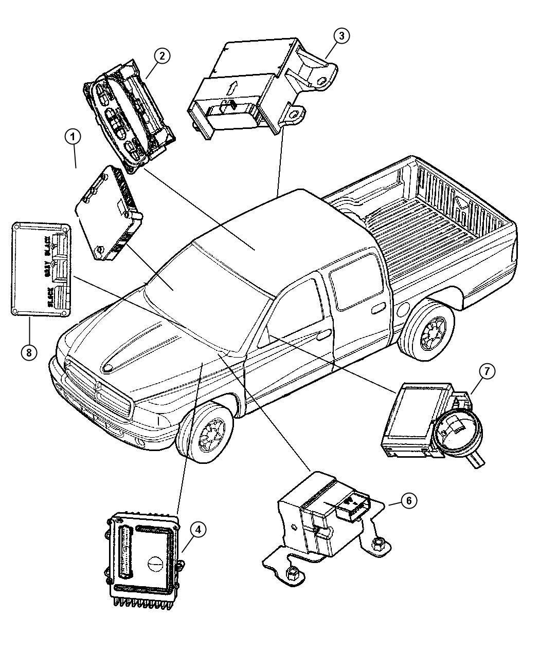 2002 Dodge Dakota Module. Transmission control