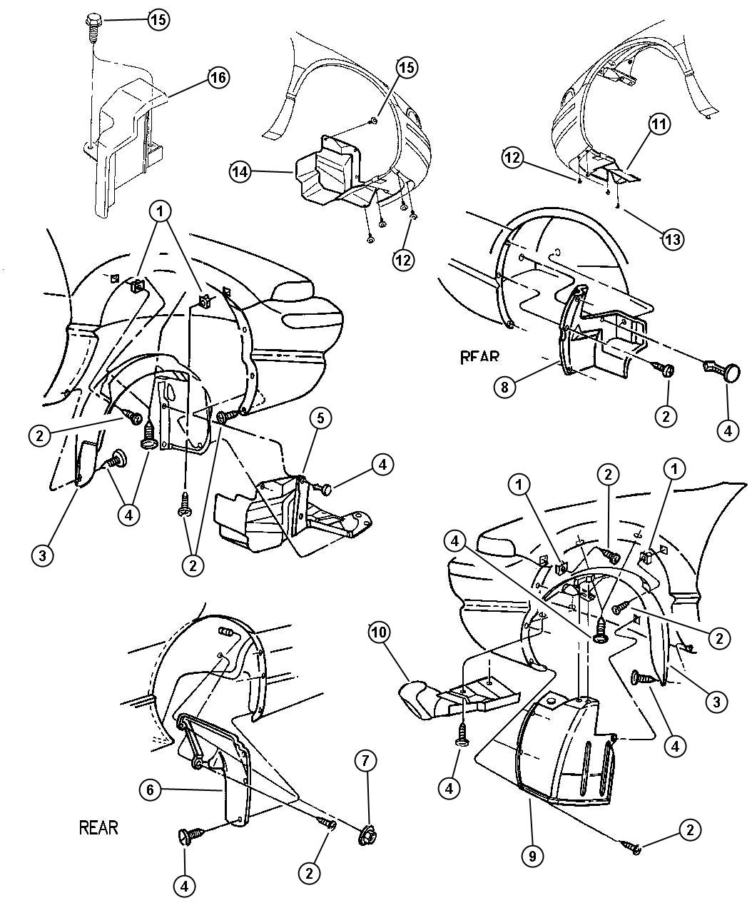 Dodge Stratus Shield. Alternator. Alternator noise, 2.4l 4