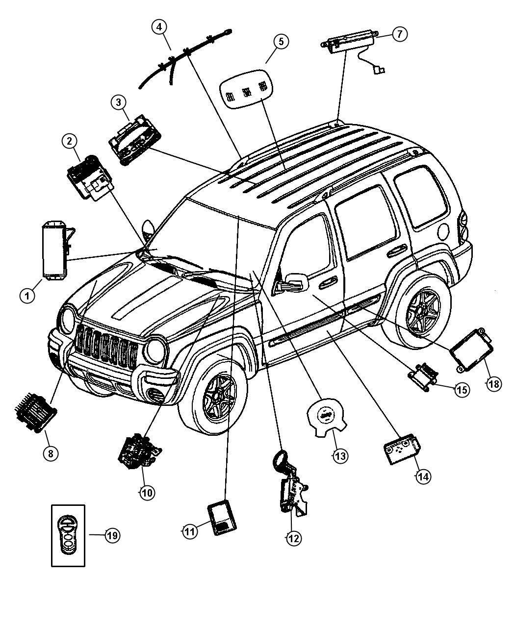 Jeep Liberty Module. Transmission control. Modules, mopar