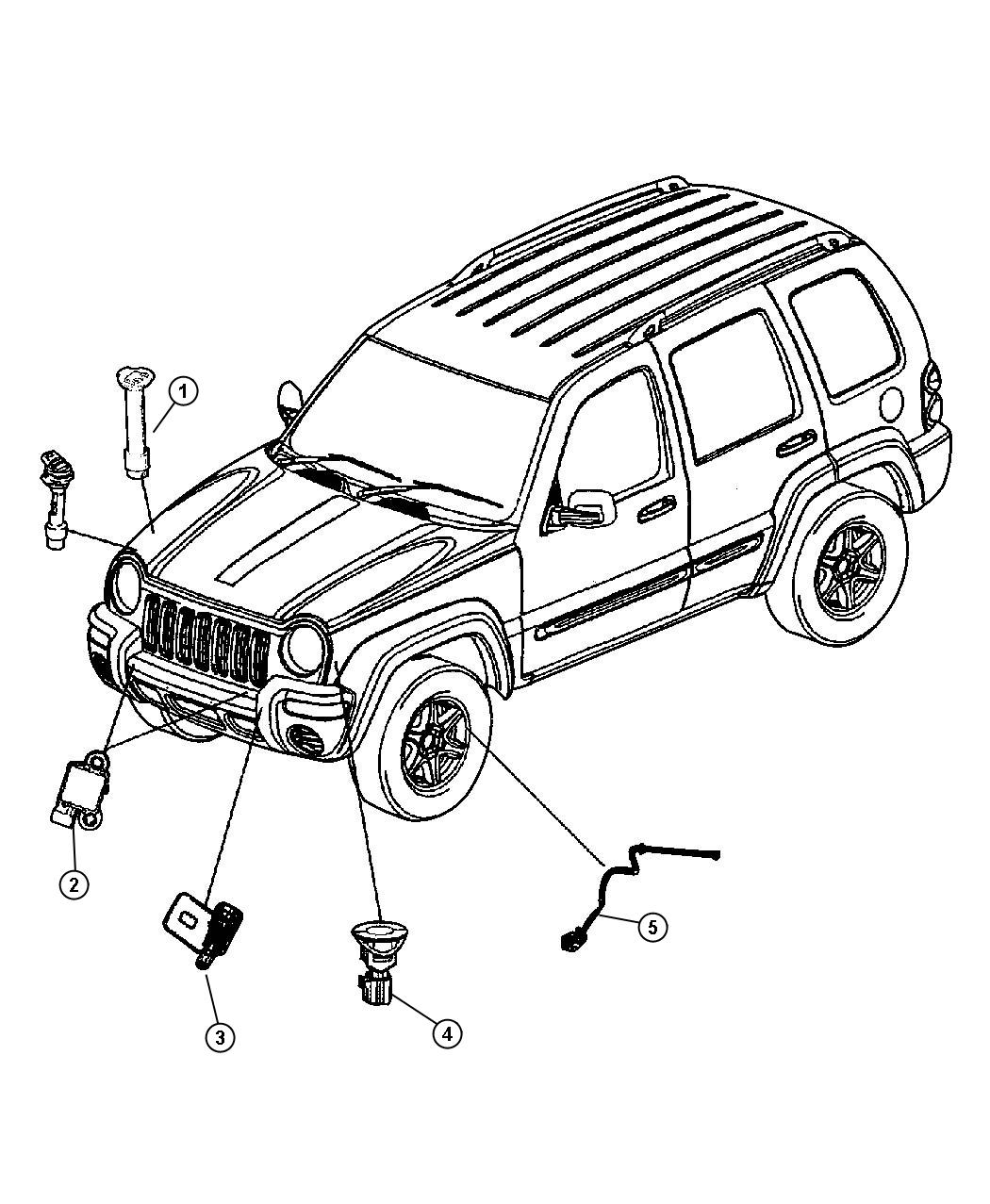 Jeep Grand Cherokee Sensor Air Bag Right Bags