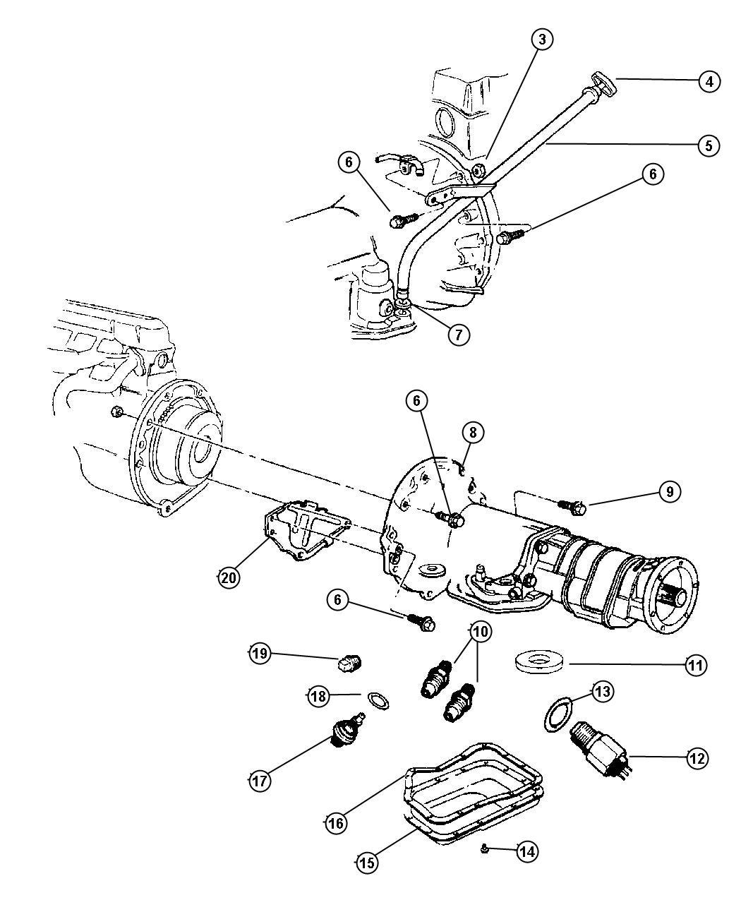 2007 Chrysler Crossfire Tube. Transmission oil filler