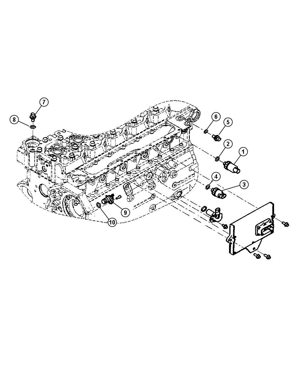 Jeep Patriot Sensor Switch Oil Pressure