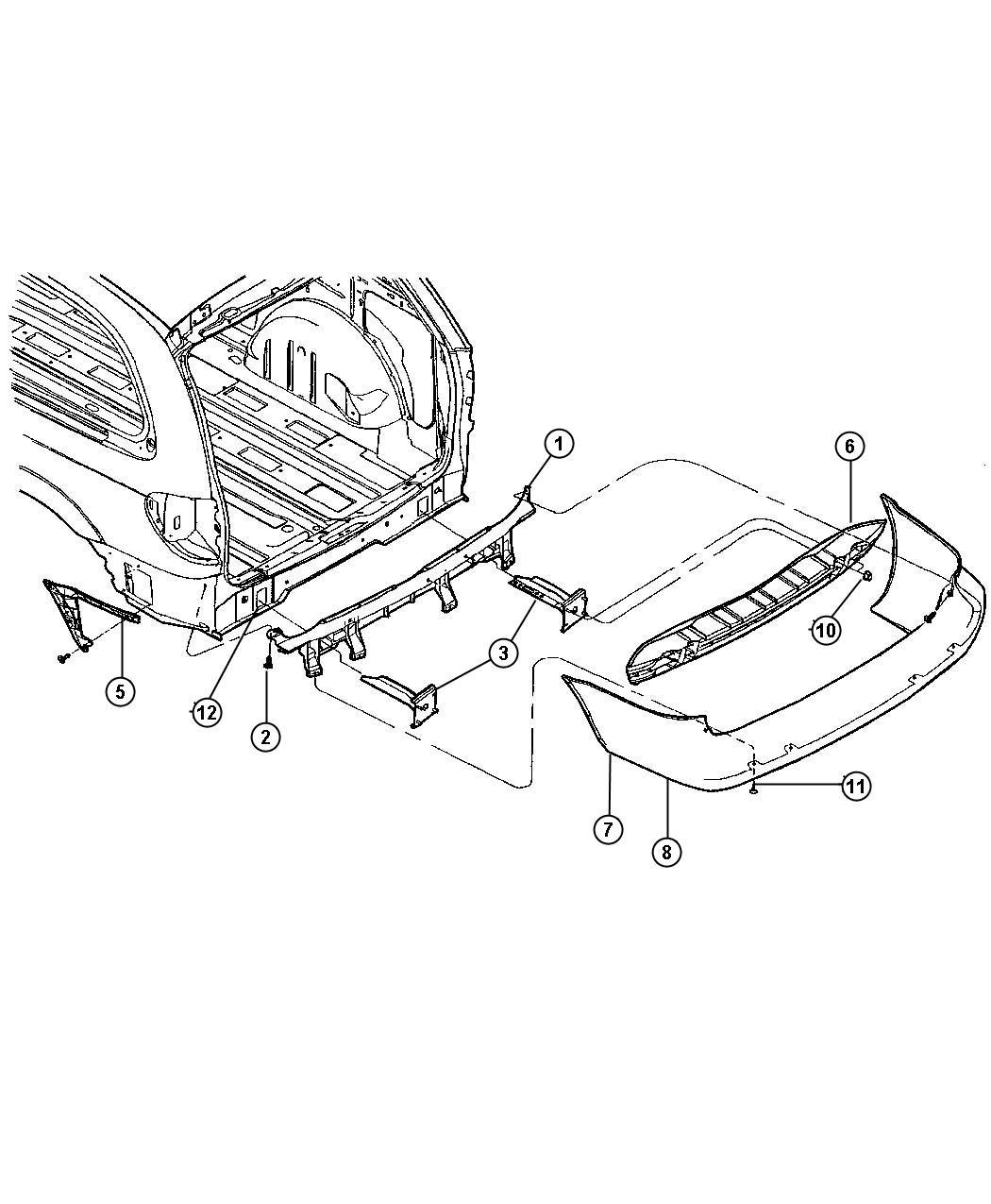 2001 Chrysler Voyager Fascia. Rear. Primed. Mln, body