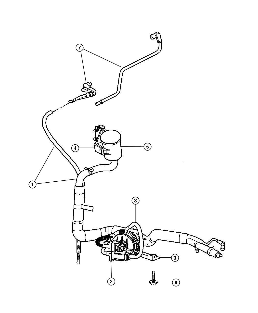 2002 Chrysler Voyager Harness. Leak detection pump to