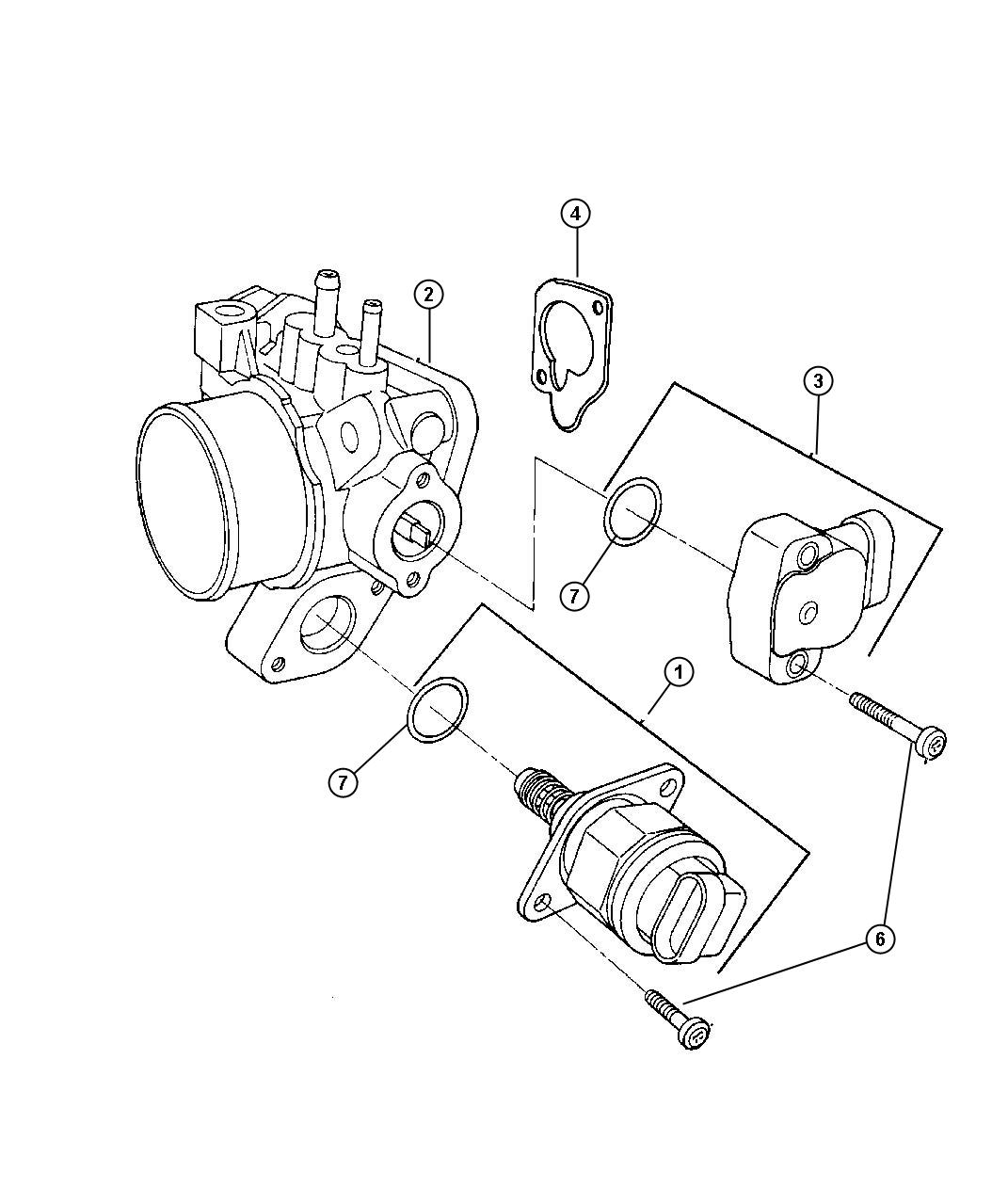 Chrysler Town & Country Throttle body. Engine, smpi, ohv