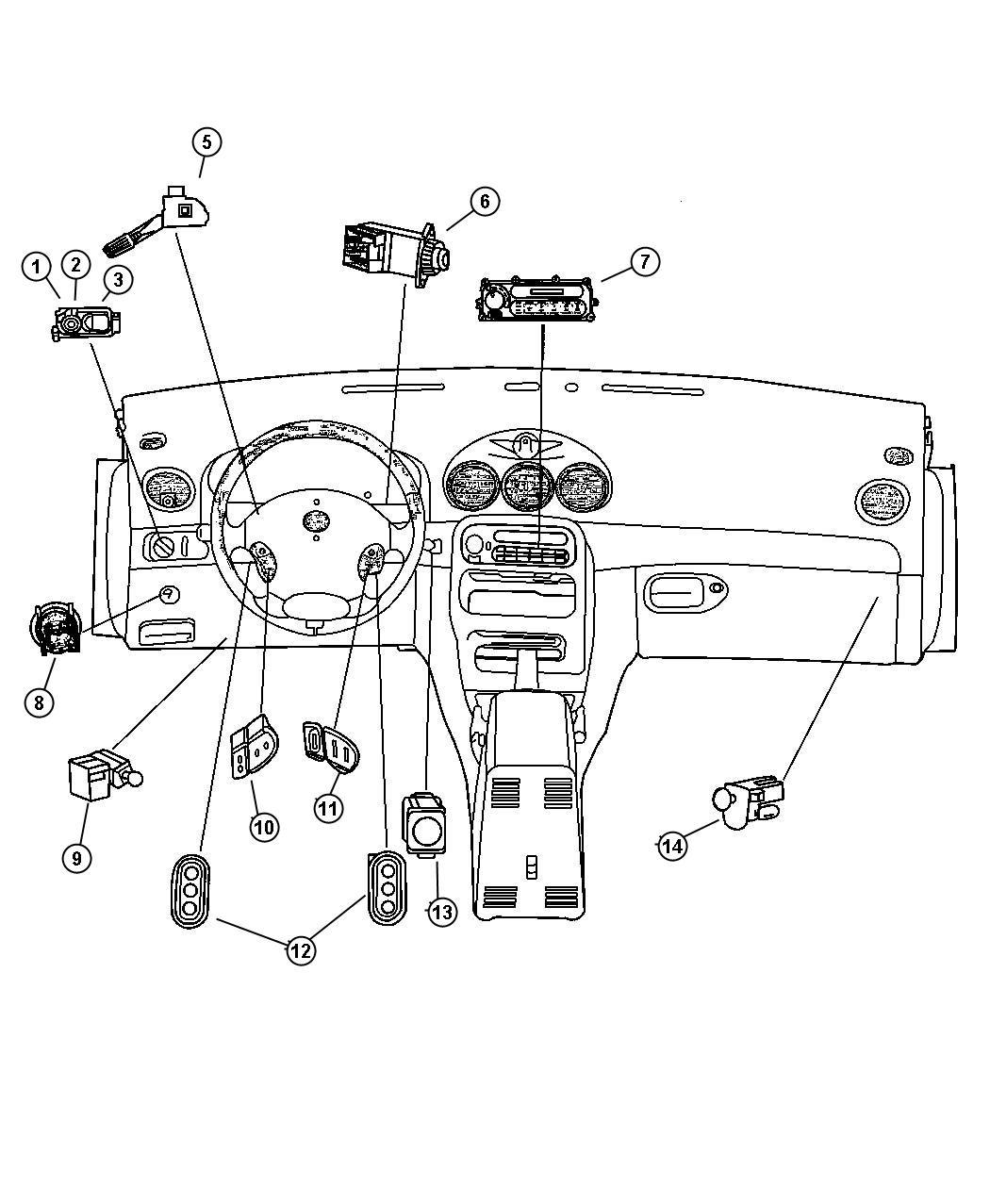 Dodge Intrepid Switch. Headlamp. Headlamps, automatic, fog