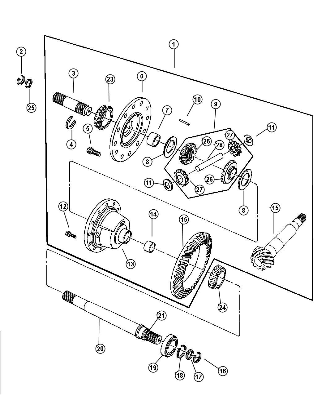 2003 Dodge Intrepid Pinion. Differential. Pinion