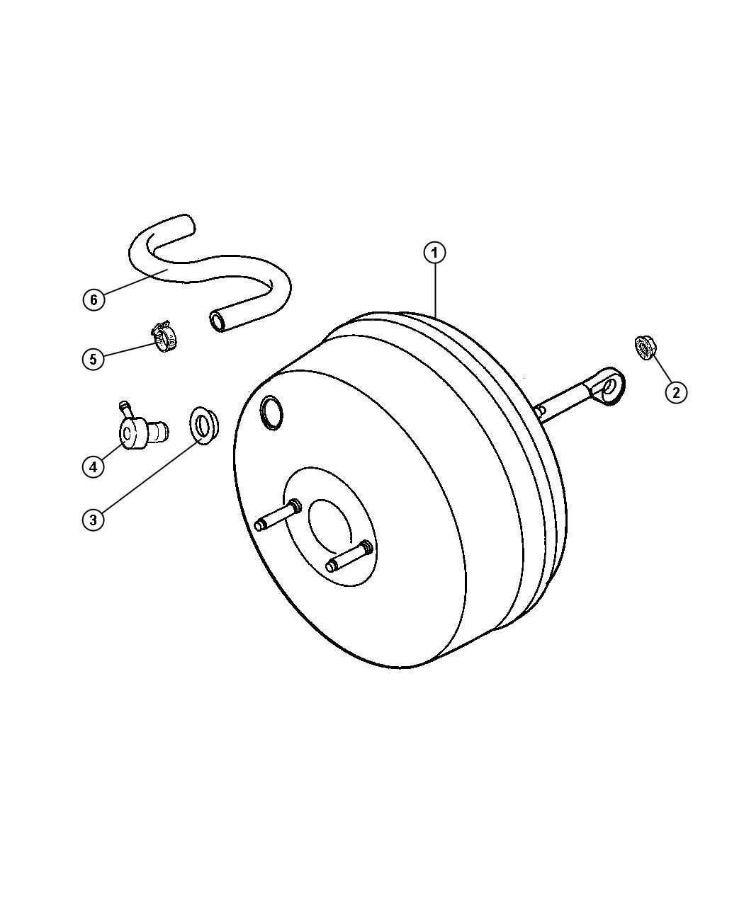 Jeep Wrangler Grommet Brake Booster Check Valve