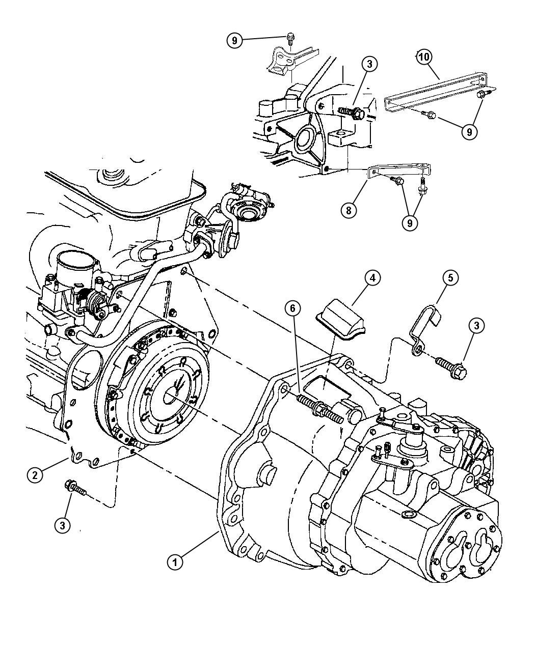 Dodge Magnum Trans. Transaxle, mounting, overall