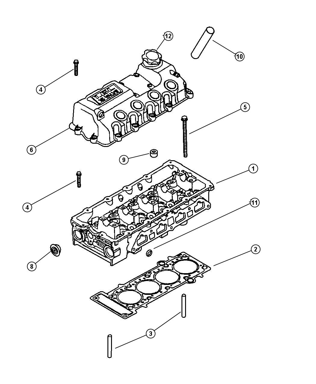 Dodge Nitro Plug Left Left Cylinder Head Right Right