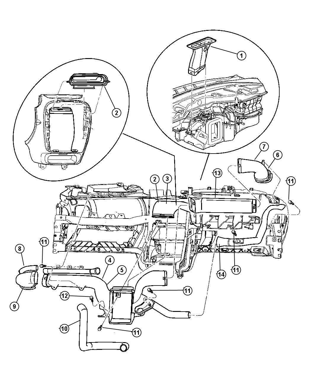 2002 Dodge Neon Duct. Air outlet. Ducts, outlets, mopar