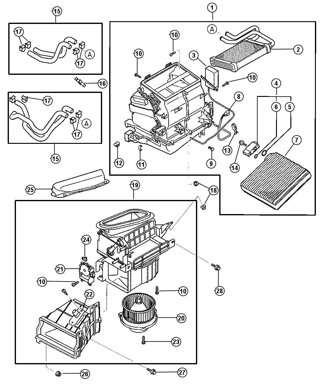 Dodge Ram Screw A C Housing M8x16 Air