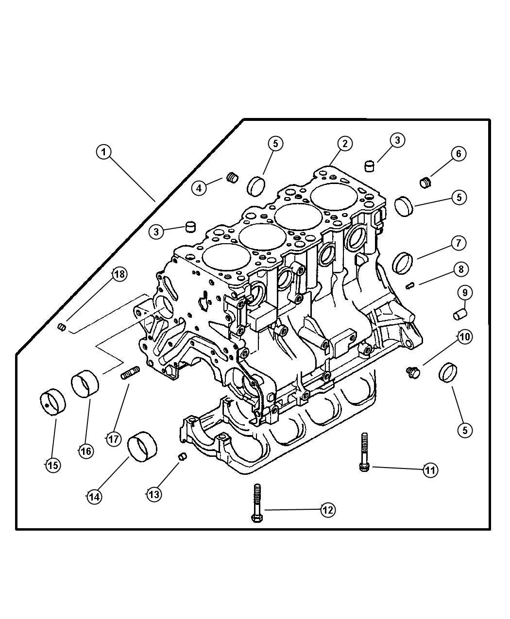 Dodge Stratus Bolt Main Bearing Cap Block Cylinder