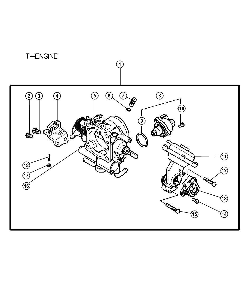 2002 Dodge Stratus Sensor. Throttle position. Mmc, body