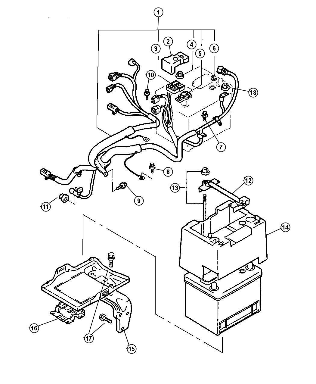 Dodge Caliber Wiring Battery