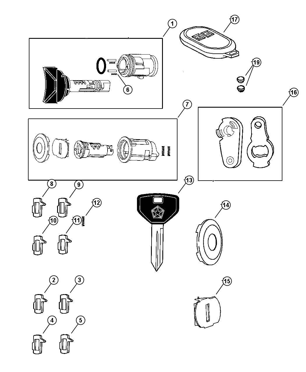 Dodge Ram Cylinder Ignition Lock Entryremote