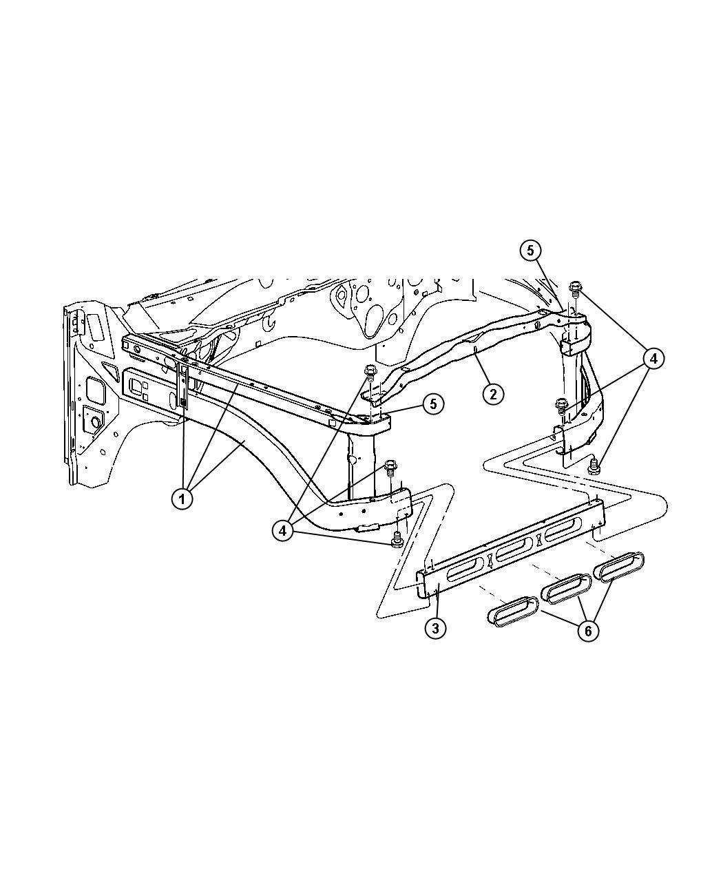 2011 Jeep Compass Closure, panel. Radiator, radiator