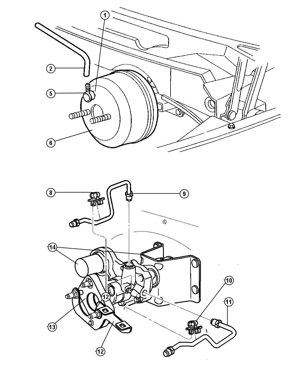 1998 Chrysler Sebring Hydro-booster. Power brake. [all