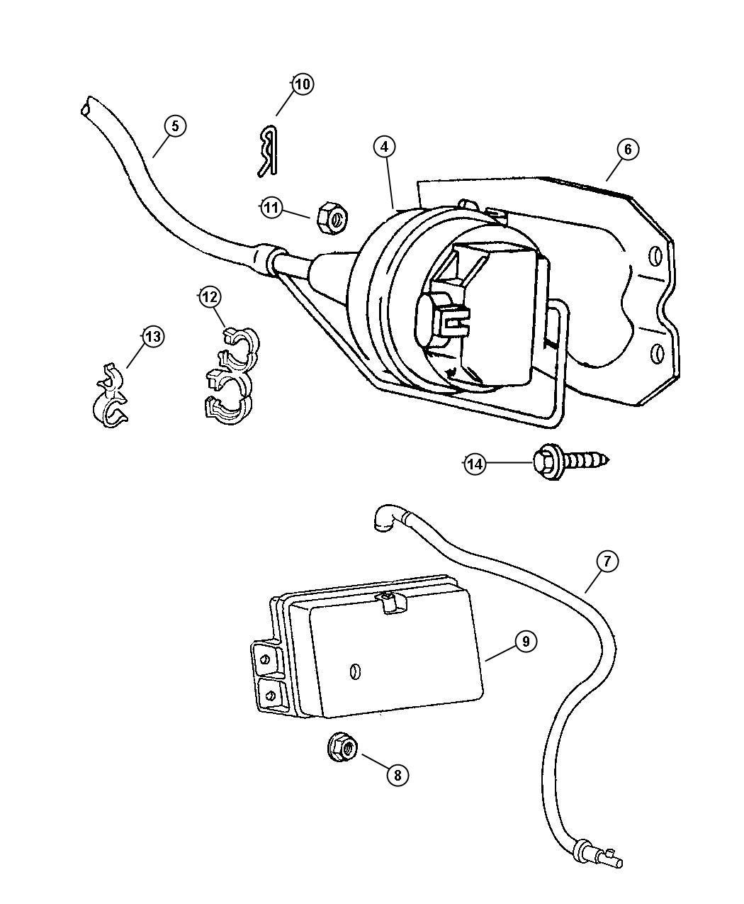 Dodge Grand Caravan Cable Speed Control 5 9l Gas Engine