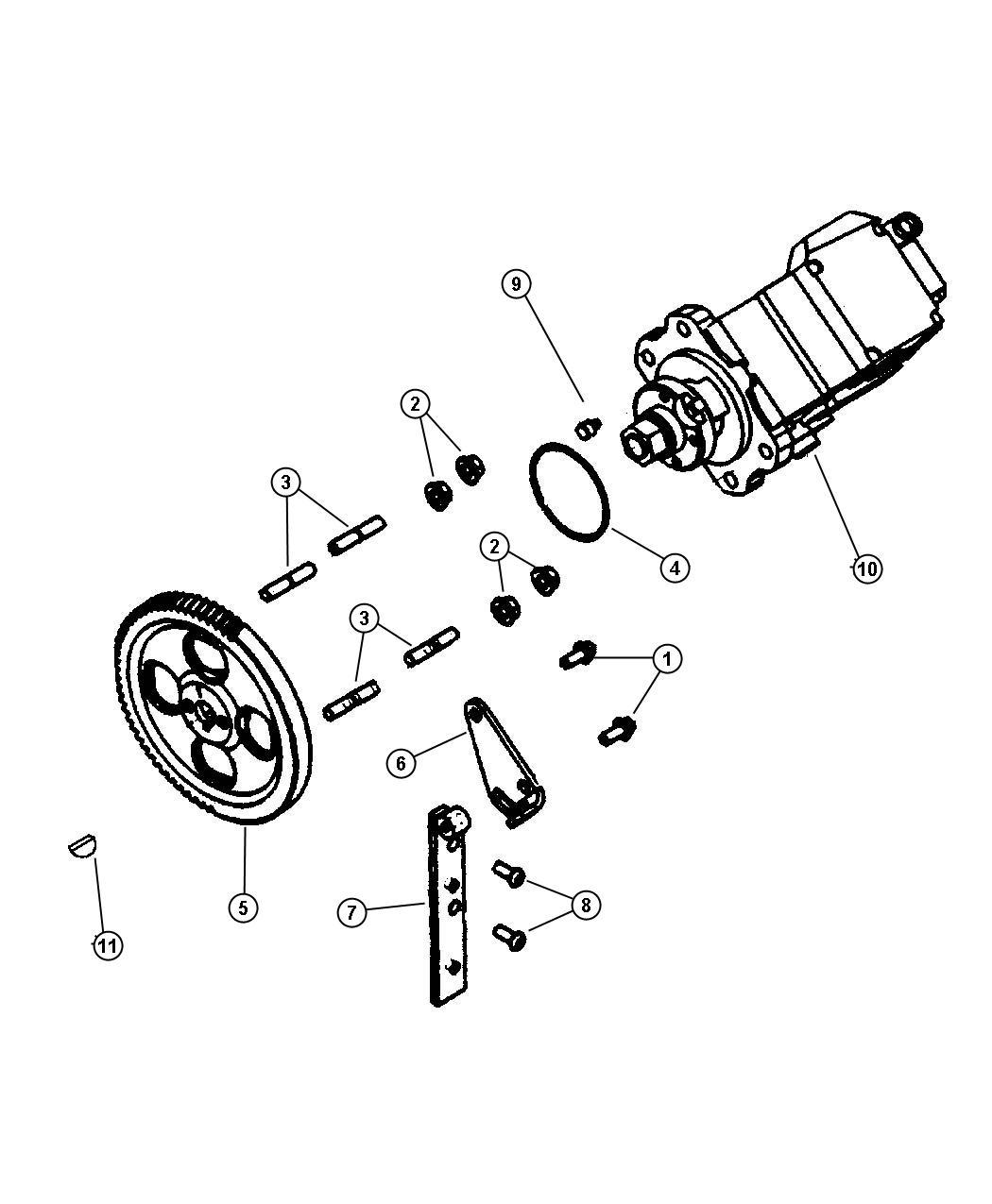 2001 Dodge Ram 1500 Pump. Fuel injection. Diesel, cummins